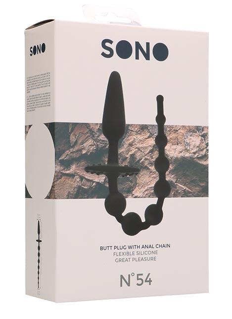 SONO Silicone No. 54 Butt Plug with Anal Chain