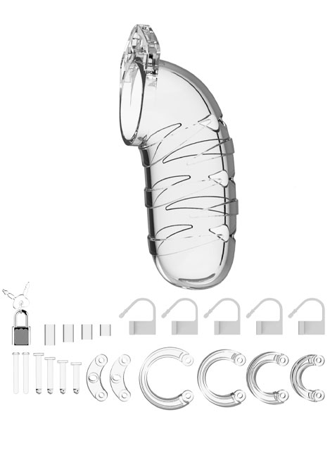 ManCage Chastity Cock Cage #05 Clear 5,5 inch