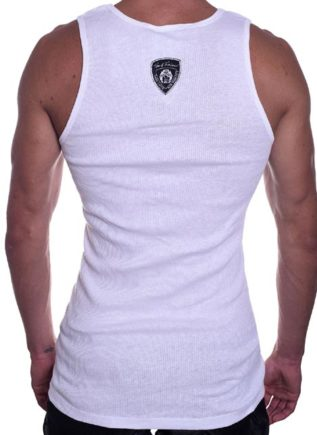 Tom of Finland Boot Print Tank Top White Small