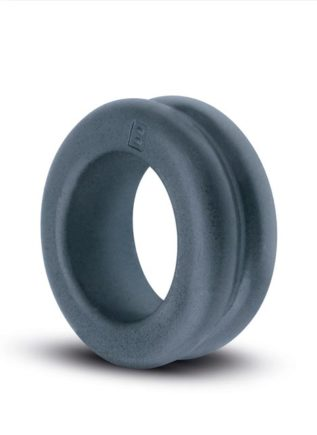 Boners TPE Ribbed Cock Ring Grey