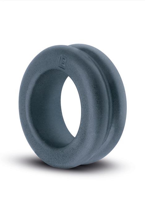Boners TPE Ribbed Cock Ring Grey