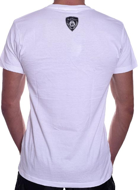 Tom of Finland Boot Print T-Shirt White Small