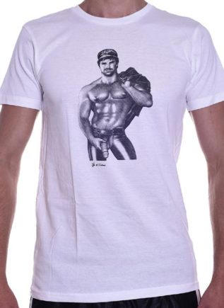 Tom of Finland Hot & Heavy T-Shirt White Small
