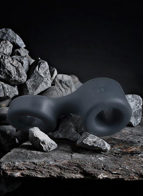 Boners TPE Cock Ring & Ball Stretcher Grey