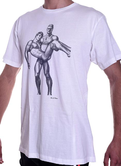 Tom of Finland Life Guard T-Shirt White Small