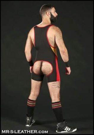 Mr. S Champion Open ass Singlet Black Small