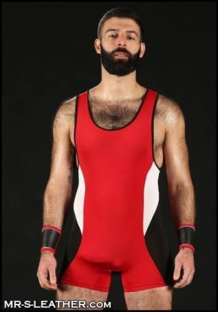 Mr. S Champion Open ass Singlet Red Large