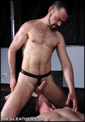 Mr. S Leather Butt Plug Harness Non-Locking Black Small / Medium