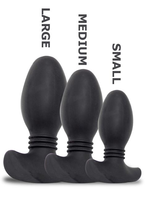 Titus Silicone Ribbed Butt Plug Black Small