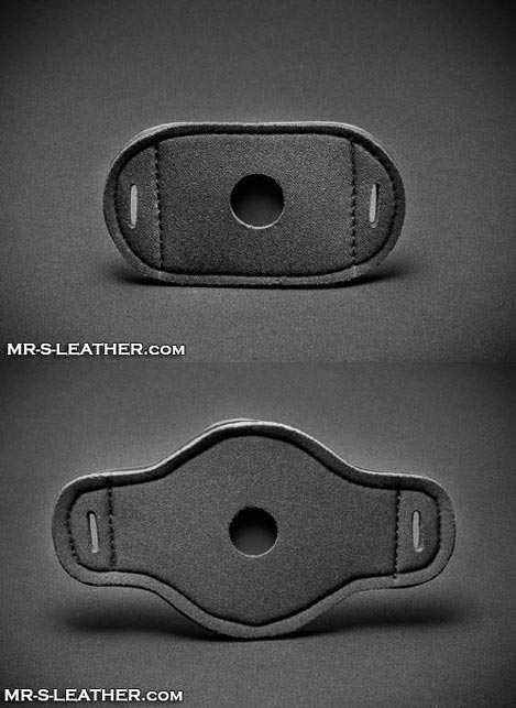 Mr. S Neoprene Butt Plug Base Plate for Butt Plug Harness Black Small