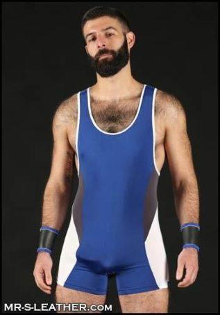 Mr. S Champion Singlet Blue Medium