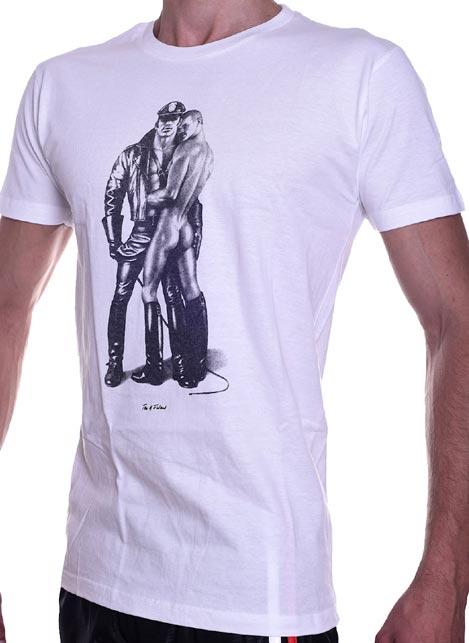 Tom of Finland Whip Boy T-Shirt White Medium