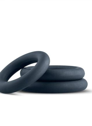 Boners Silicone 3-Piece Cock Ring Set Grey