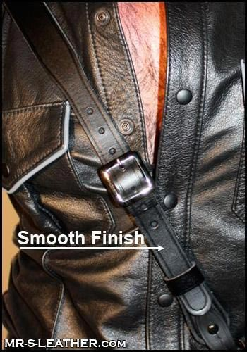 """Mr. S Leather Sam Browne Smooth Black Silver 52"""""""