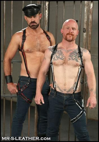 Mr. S Leather Hunter Harness 2.0 Piped Red Standard