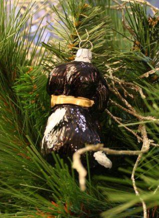 Haberland Black Puppy Christmas Ornament - 11