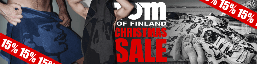 Tom of Finland Christmas Sale Banner