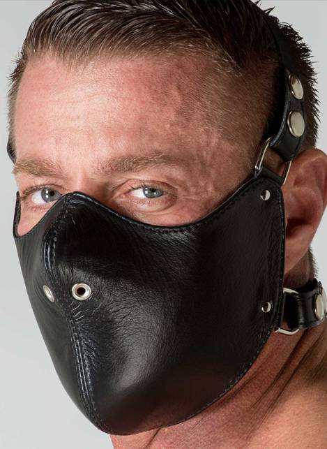 665 Leather Mouth Restrictor Black
