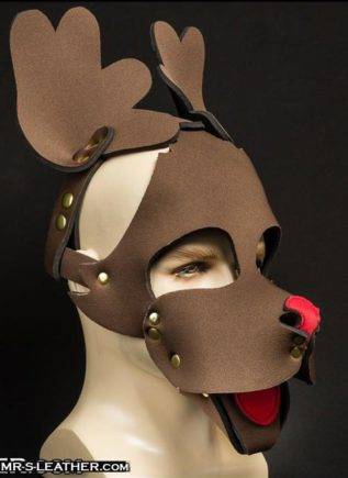 Mr. S Neoprene Reindeer Muzzle Brown