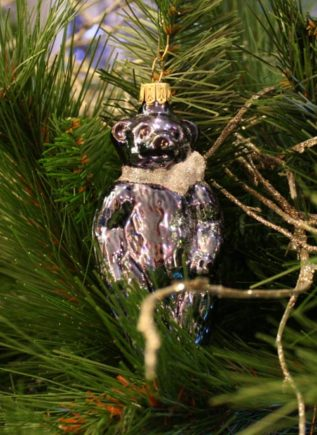 Haberland Blue Bear Christmas Ornament - 2
