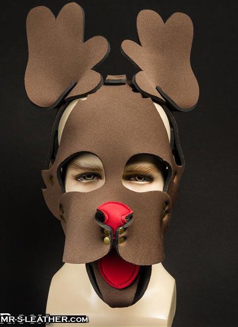 Mr. S Neoprene Reindeer Muzzle Brown