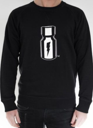 Master of the House Poppers Sweater Black Small