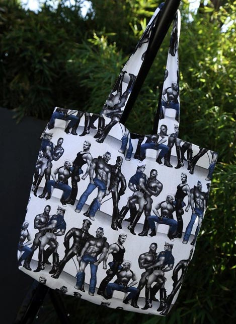 Tom of Finland Lined Shopping Bag Blue Squad 45 x 42 cm