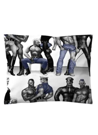 Tom of Finland Satin Pillow Case Blue Squad 55 x 65 cm