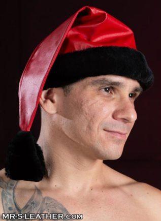 Mr. S Leather Santa Hat