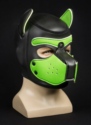 Mr. S Neoprene Puppy Hood Lime Medium
