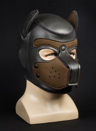 Mr. S Neoprene Puppy Hood Brown Medium