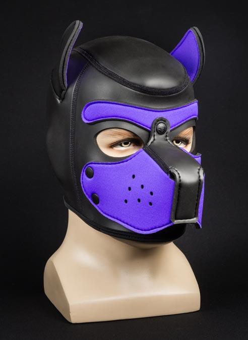 Mr. S Neoprene Puppy Hood Purple Medium