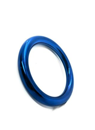 Black Label Stainless Steel Blue Donut Cock Ring 55 mm