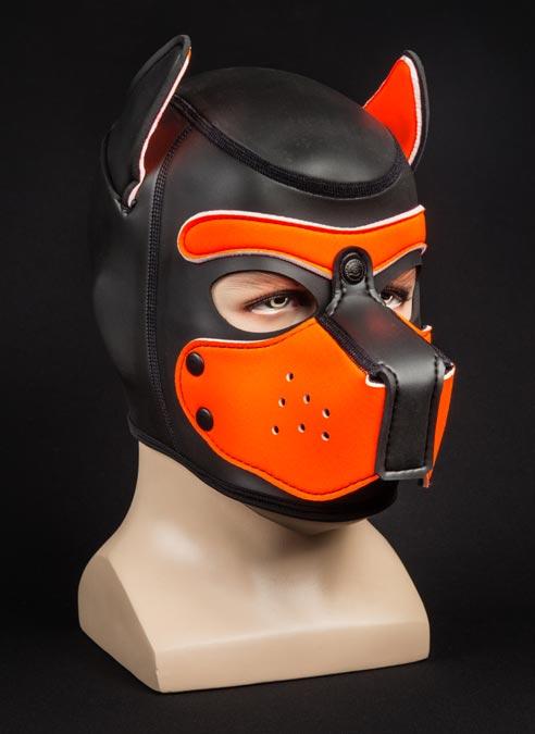 Mr. S Neoprene Puppy Hood Orange Medium