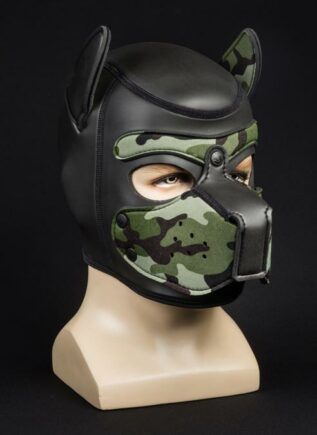 Mr. S Neoprene Puppy Hood Camo Small