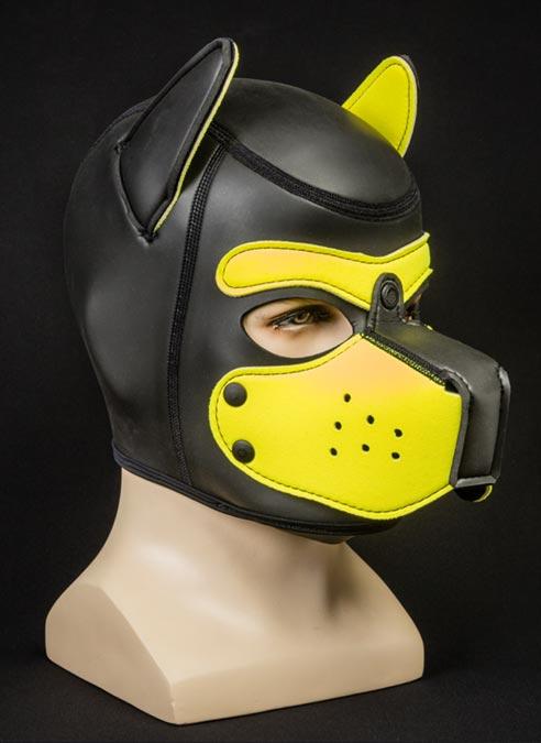 Mr. S Neoprene Puppy Hood Yellow Custom