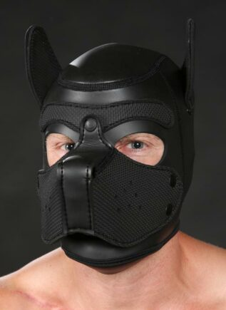 Mr. S Neoprene Puppy Hood Black Medium