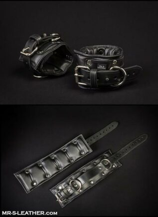 Mr. S Fetters Leather Padded Ankle Restraints Black