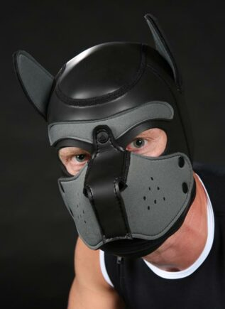 Mr. S Neoprene Puppy Hood Grey Custom