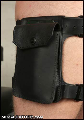 Mr. S Leather Dark Room Leg Harness Black