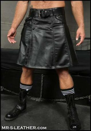 Mr. S Leather Kilt Black Medium
