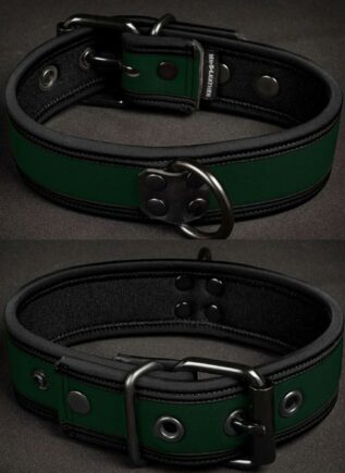 Mr. S Neoprene Puppy Collar Hunter Small/Medium