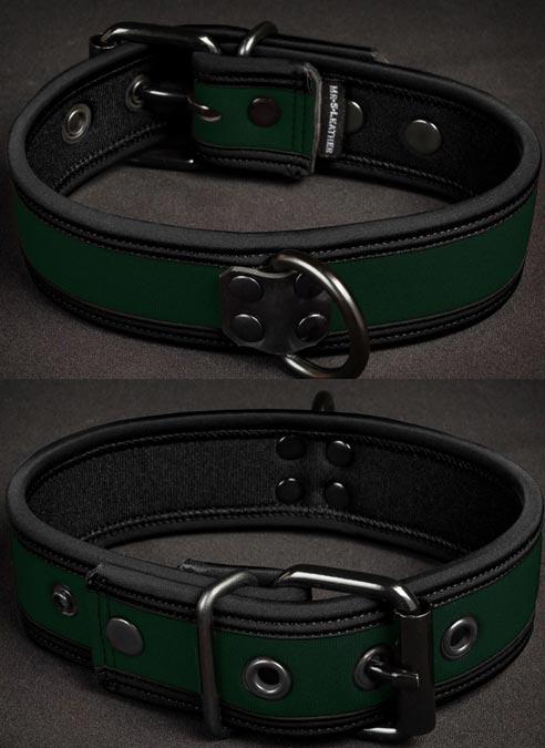 Mr. S Neoprene Puppy Collar Hunter Small/Medium