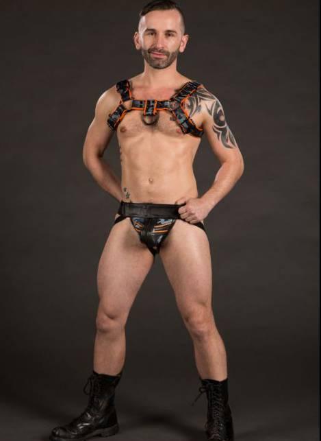 Mr. S Leather Triple play Sport Jock Camo/Orange Small