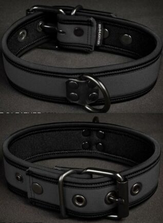 Mr. S Neoprene Puppy Collar Grey Small/Medium