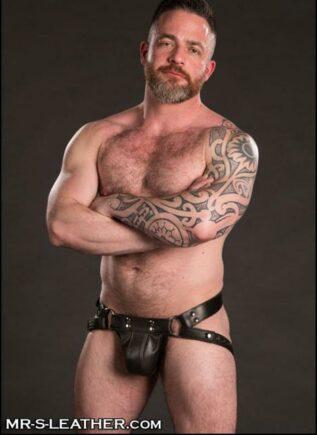 Mr. S Leather Trojan Jock Latigo Silver Small / Medium