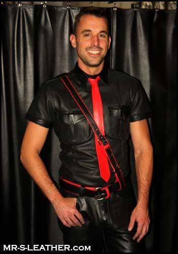 Mr. S Leather Tie Red