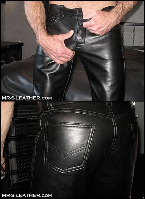 Mr. S Leather Low Rise Jeans Black 31
