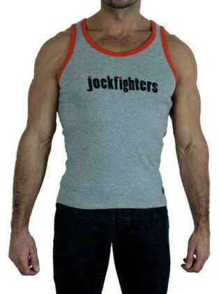Jockfighters Logo tank top white/yellow medium