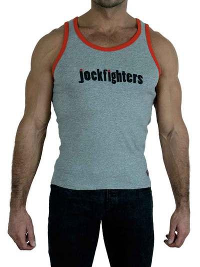 Jockfighters Logo tank top white/yellow medium